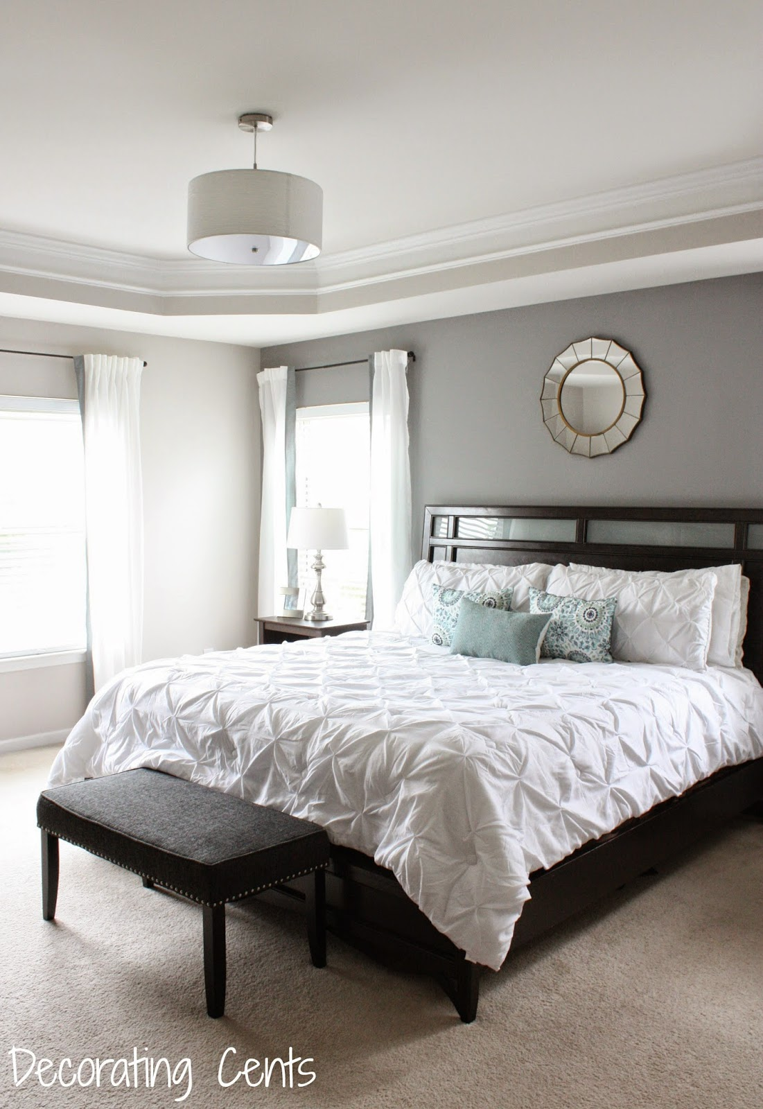 Decorating Cents: Gray Accent Wall