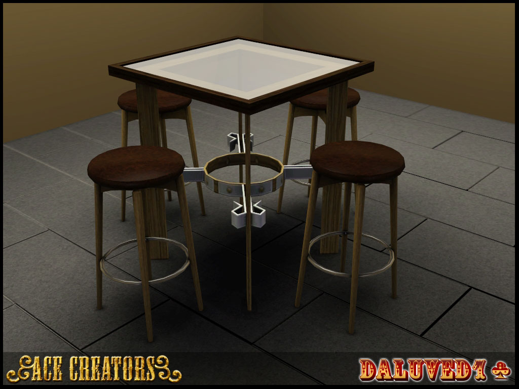 5 High-Top Tables (Now With 100% More Glass!) by Daluved1 ...