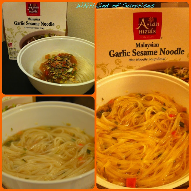 Asian Meals Malaysian Garlic Sesame Noodle Review