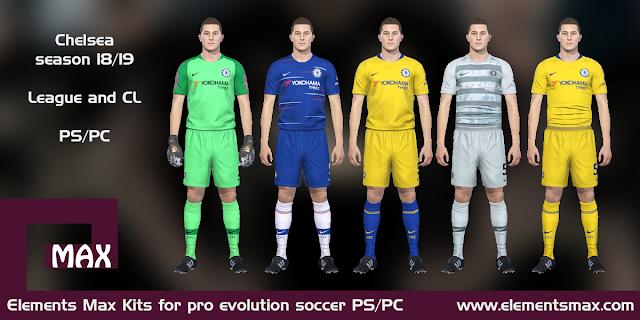 Chelsea 18/19 pes kits