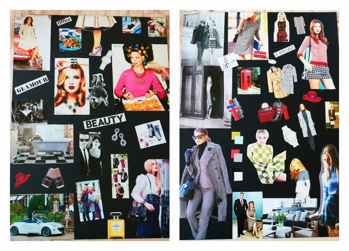 fashion design concepts and communication, collages, robert gordon university