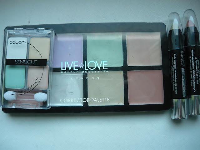 Kolorowe korektory na zaczerwienienia oraz cienie pod oczami | Kobo | Sensique | LiveLove