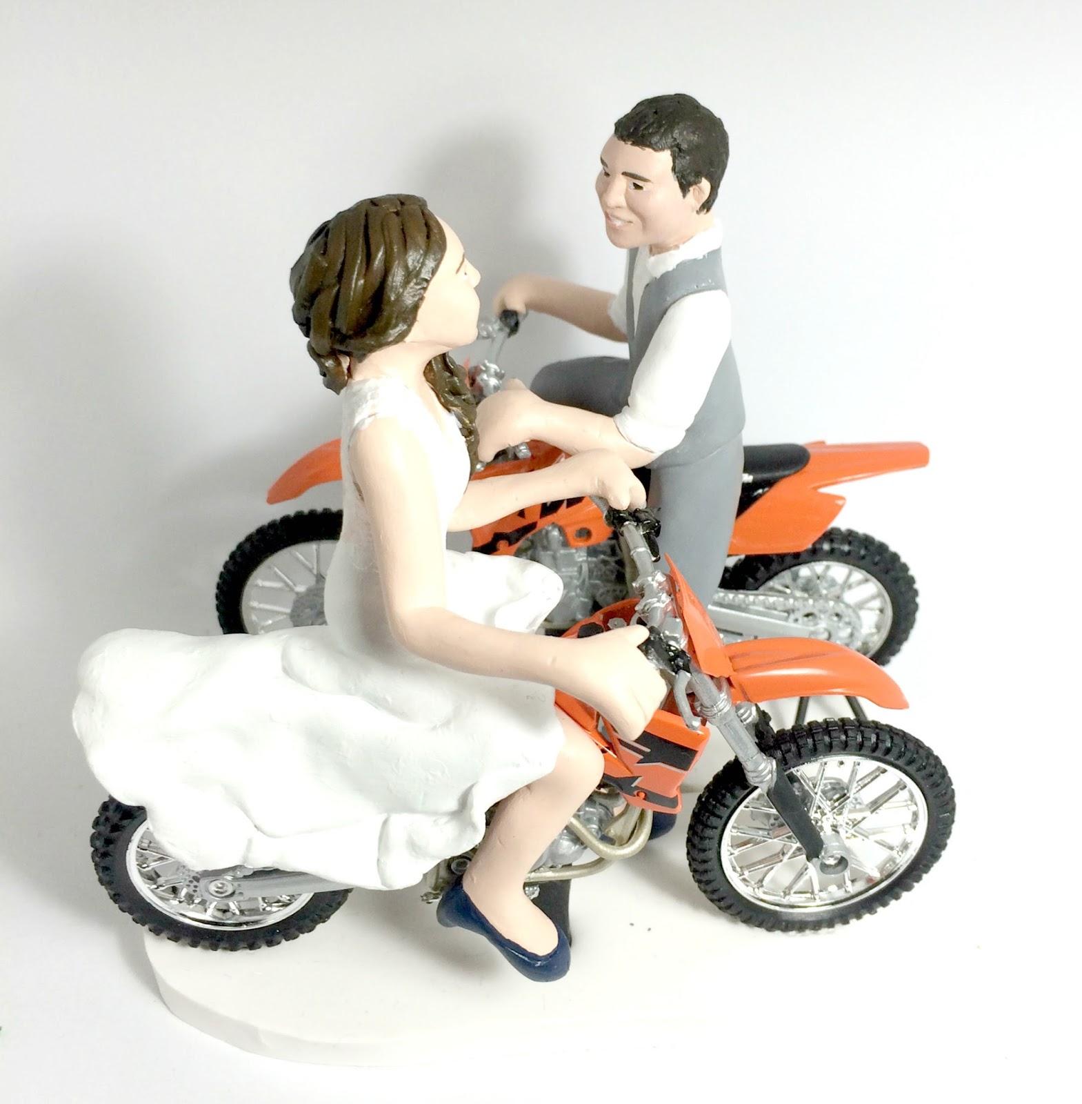 Old Fashioned Bike Wedding Cake Topper Photo The Wedding Ideas