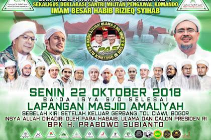 Hadirilah Milad FSI Ke-1 Di Lap Masjid Amaliyah Ciawi Bogor, Senin 22 Oktober 2018