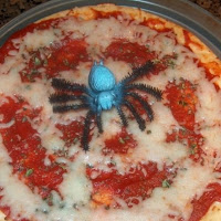 Spider Web Pizza Recipe perfect for October and Pizza Month