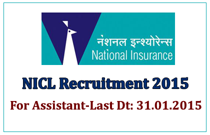 NICL Recruitment 2015