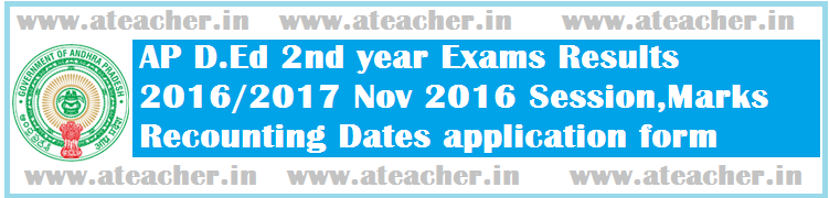 AP-DEd-2nd-year-Exams-Results-2016-2017-Nov2016-Session-Marks-Recounting-Dates-application-form