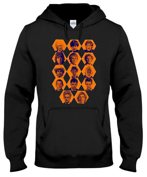 Doctor Who The Fourteen Doctors T Shirt Hoodie. Doctor Who T Shirts Hoodie
