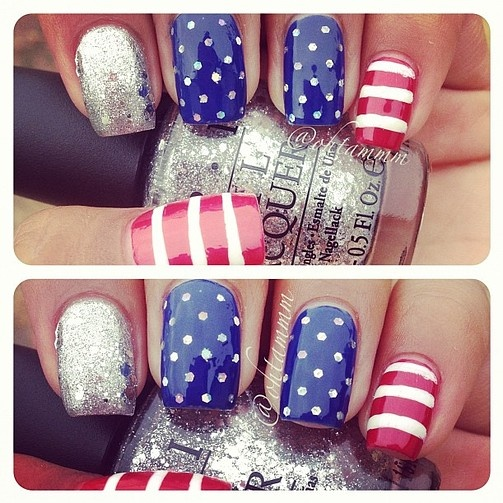 Sweet Aimees Knit Pickin: 7 Cute Easy 4th Of July Nail