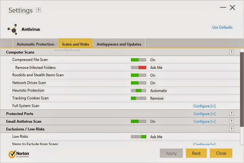 norton antivirus 180 days computer scan wizard