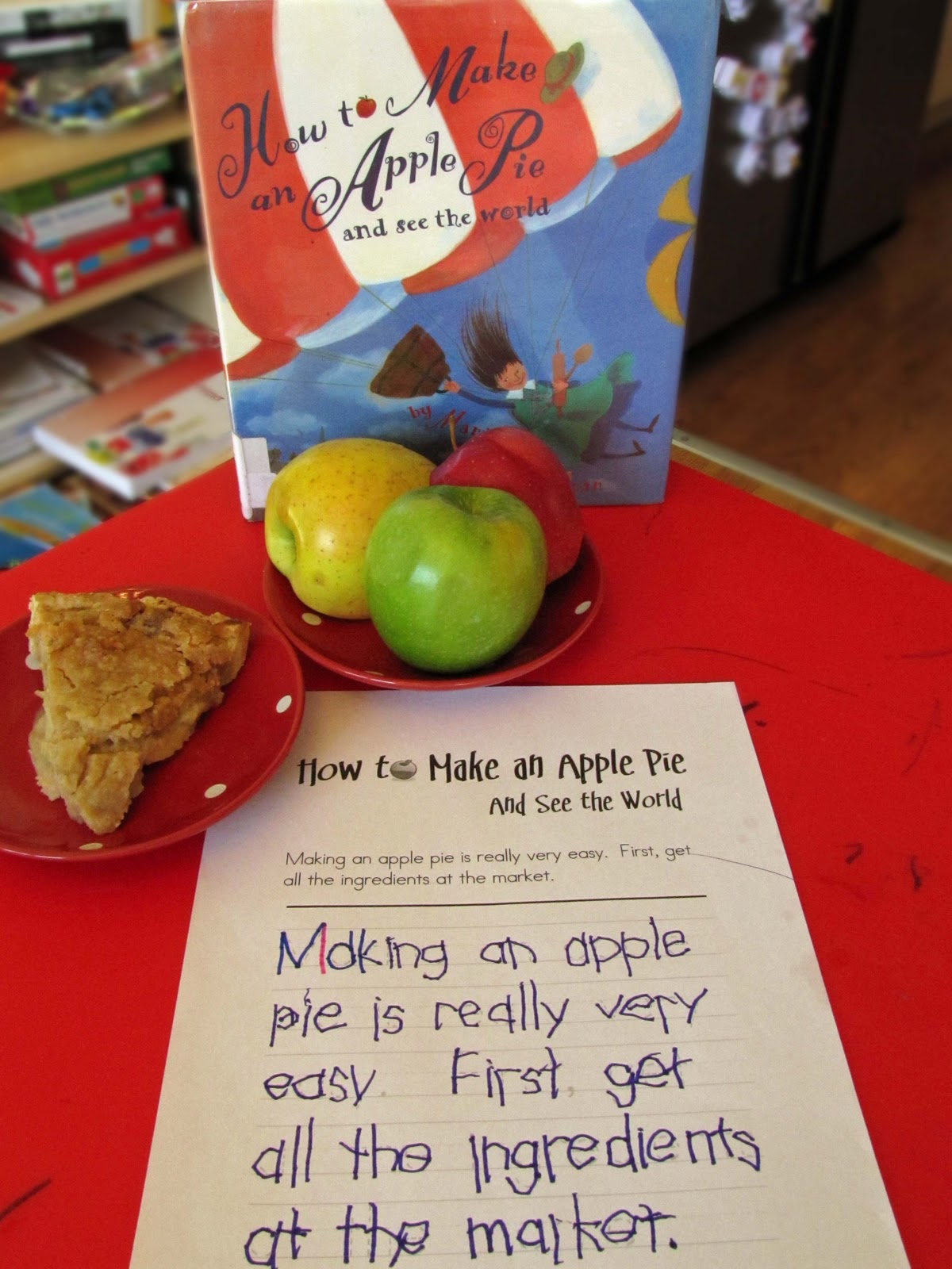 how to make an apple pie and see the world activities fiar
