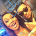 Bonang and AKA selfie on Live Amp