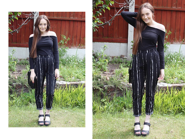 how to turn an old top into an off the shoulder top