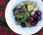 January - Beef Stew with Cranberries (Swedish Kalops)