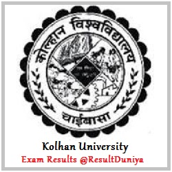Kolhan University B.Com Part 1 Part 2 Part 3 Result 2015