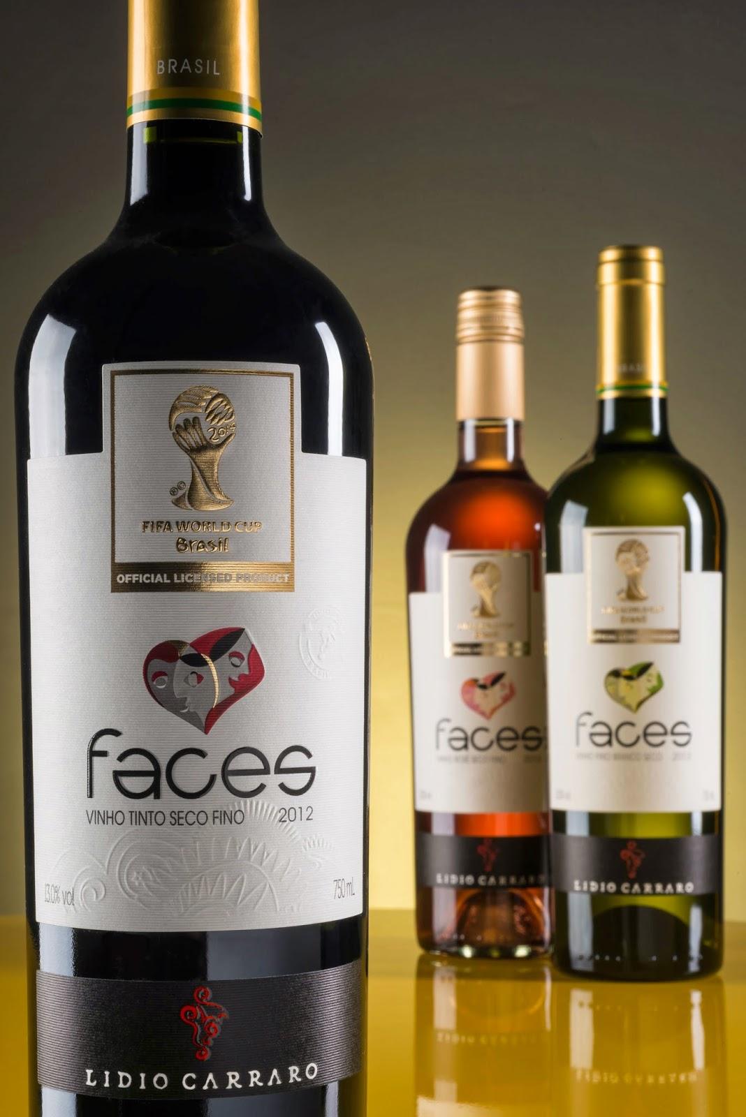 Eu, Gourmet: Vinho Lídio Carraro Faces - licenciado oficial da Copa do Mundo  FIFA 2014™ - será apresentado na ProWein
