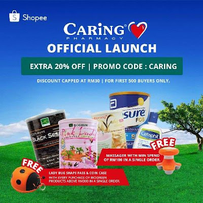 CARiNG PHARMACY Shopee Promo Code