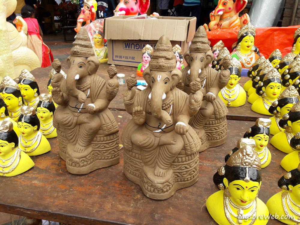 Clay Ganesha Idols