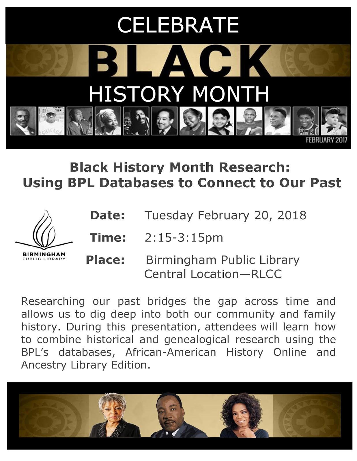Black History Program Template | African American Inventors Presentation Black History Month Black