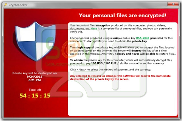 CryptoLocker - Ficheros cifrados .7z.encrypted (Ranosmware)