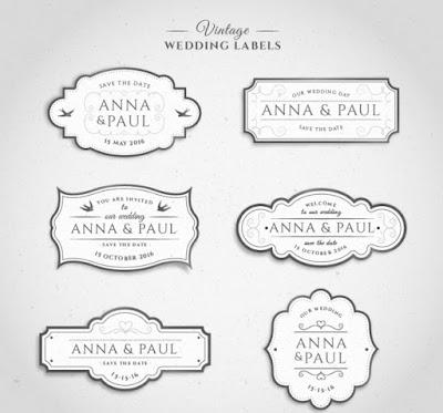 vector invitaciones de bodas