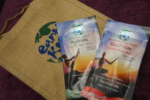Earth Kiss clay bamboo sheet face masks review and ingredient list