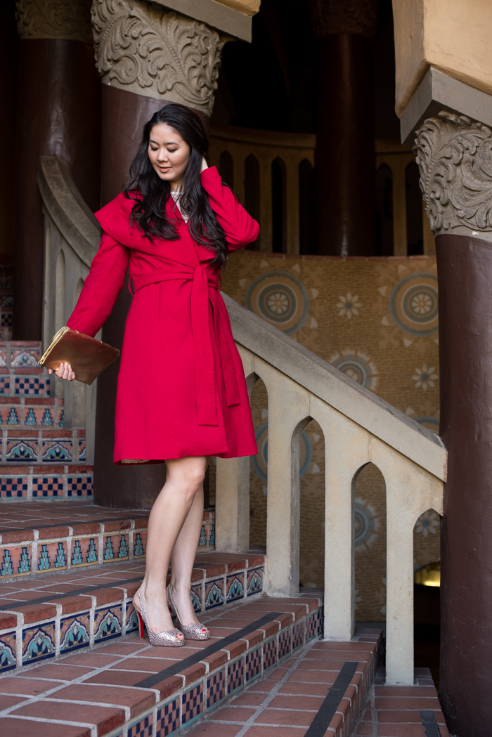 red valentines day coat