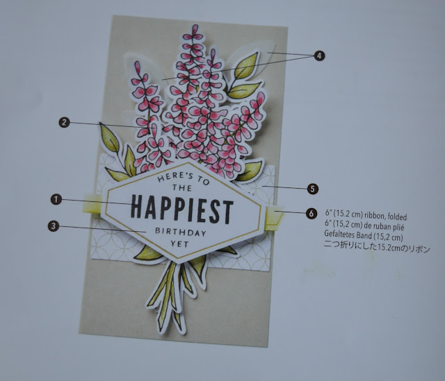 Example of a card to be made with numbered pieces.