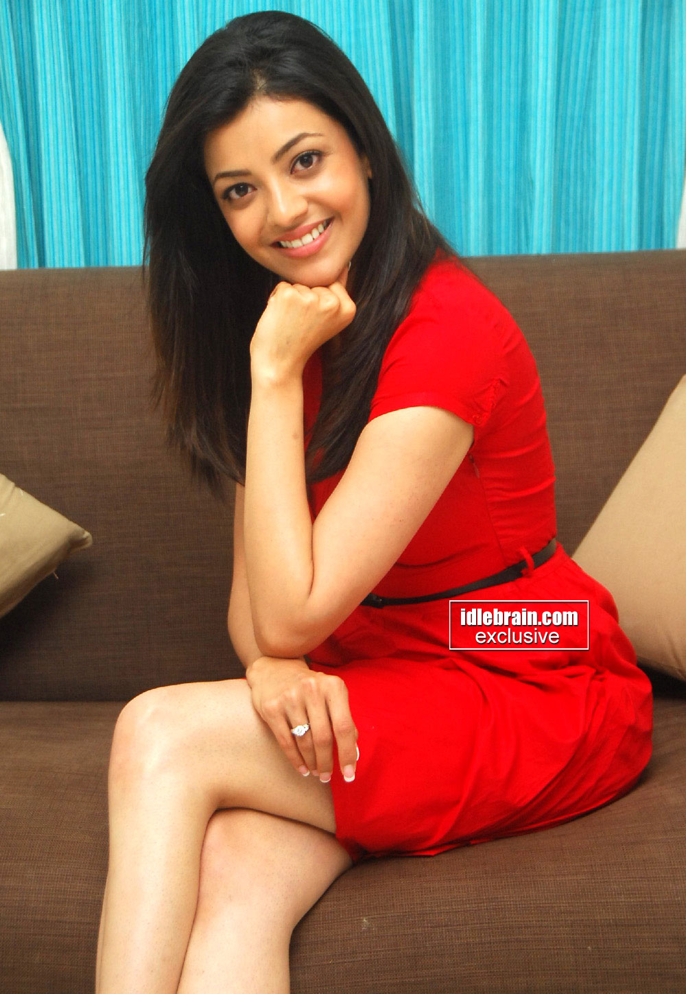 Unseen Tamil Actress Images Pics Hot Kajal Agarwal Red -9741