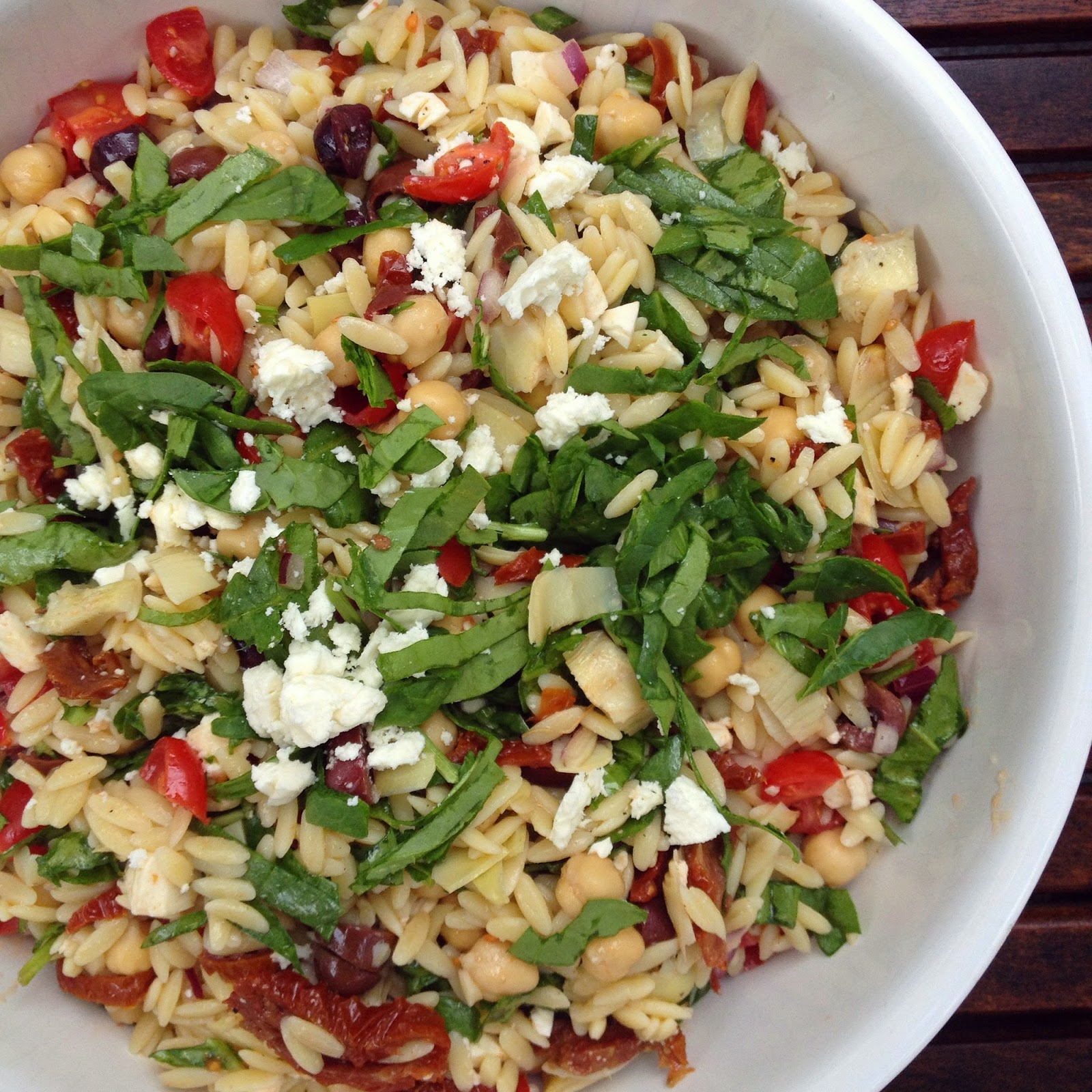 Mediterranean Pork And Orzo Recipe: Designer Bags And Dirty Diapers: Mediterranean Orzo Salad