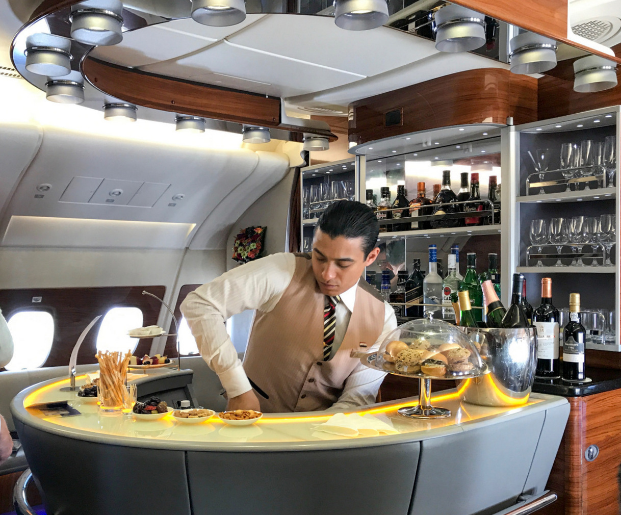 Emirates Onboard Cocktail Bar
