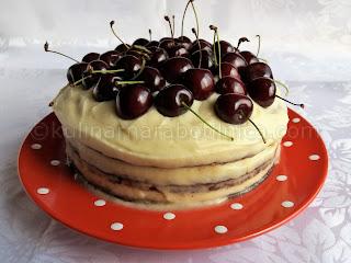 Шоколадова торта с маскарпоне и череши