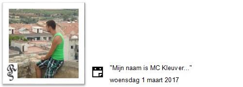 mijn naam is mc kleuver