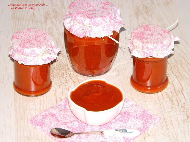 Sos słodko - kwaśny ( ze śliwek, jabłek, pomidorów) do mięs oraz wędlin.
