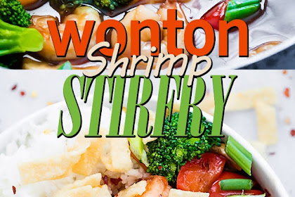 WONTON SHRIMP STIRFRY