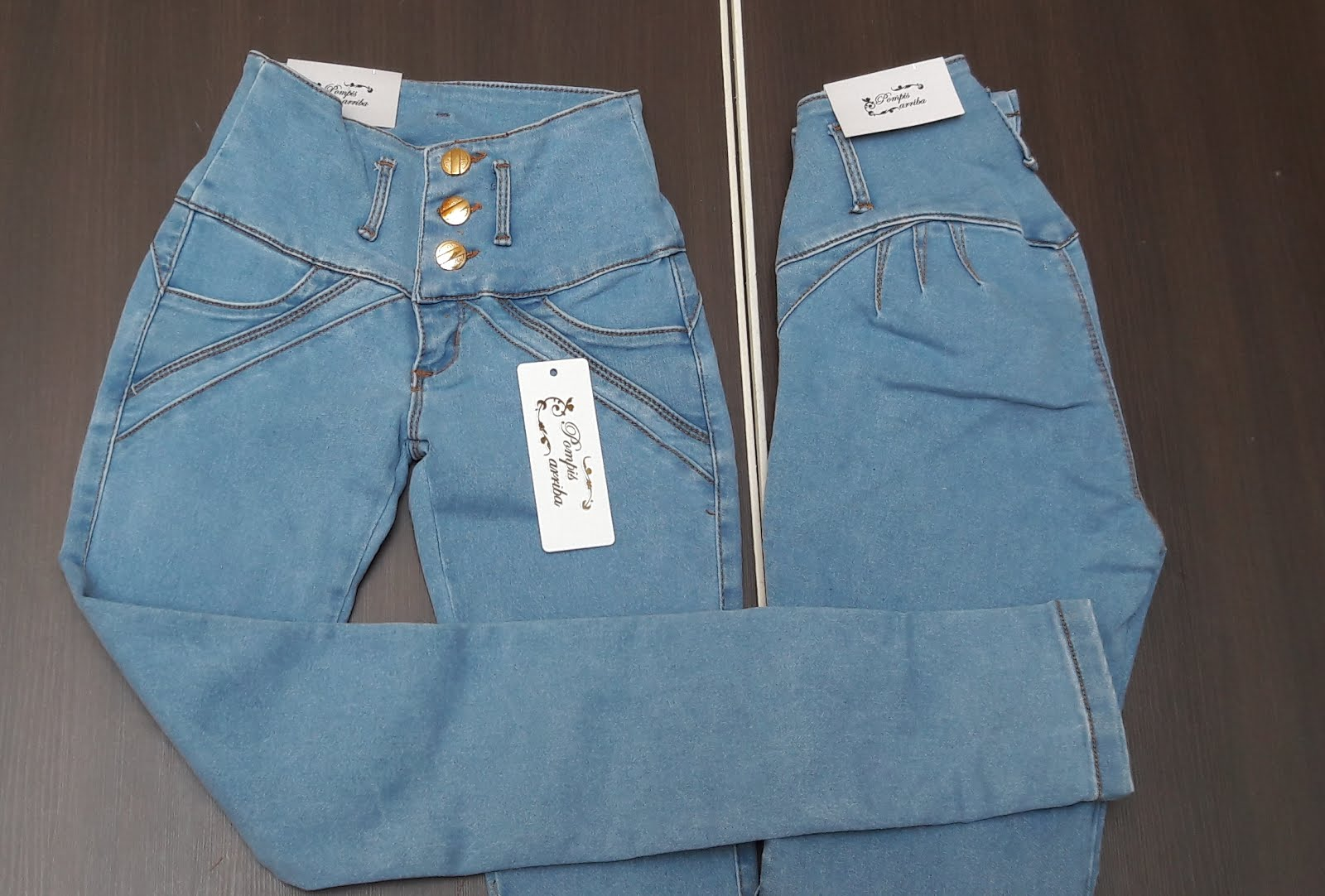 Jeans color Claro Mezclilla Stretch Levanta Pompas