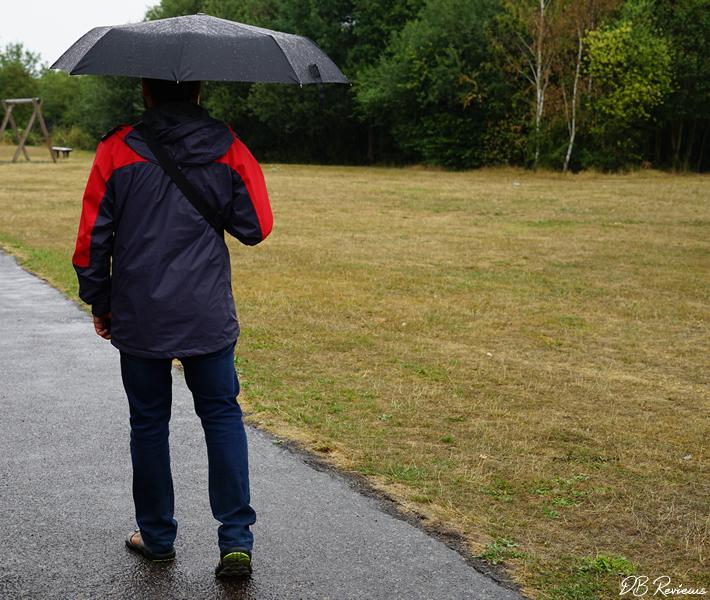 Susino wind resistant unisex black compact umbrella