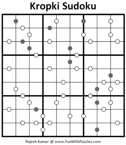 Kropki Sudoku Puzzle (Fun With Sudoku #280)