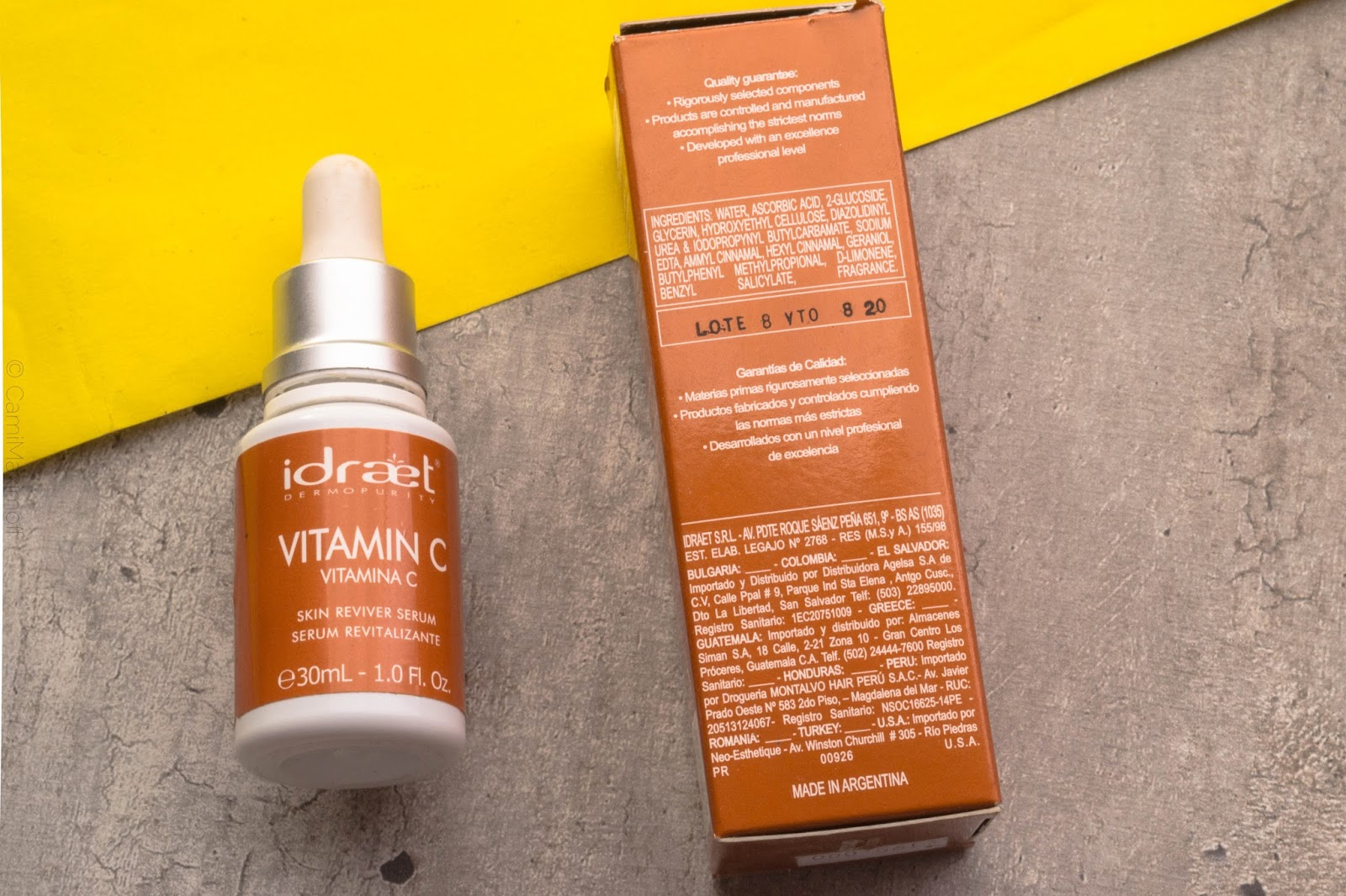 vitamina c idraet serum noche opinion