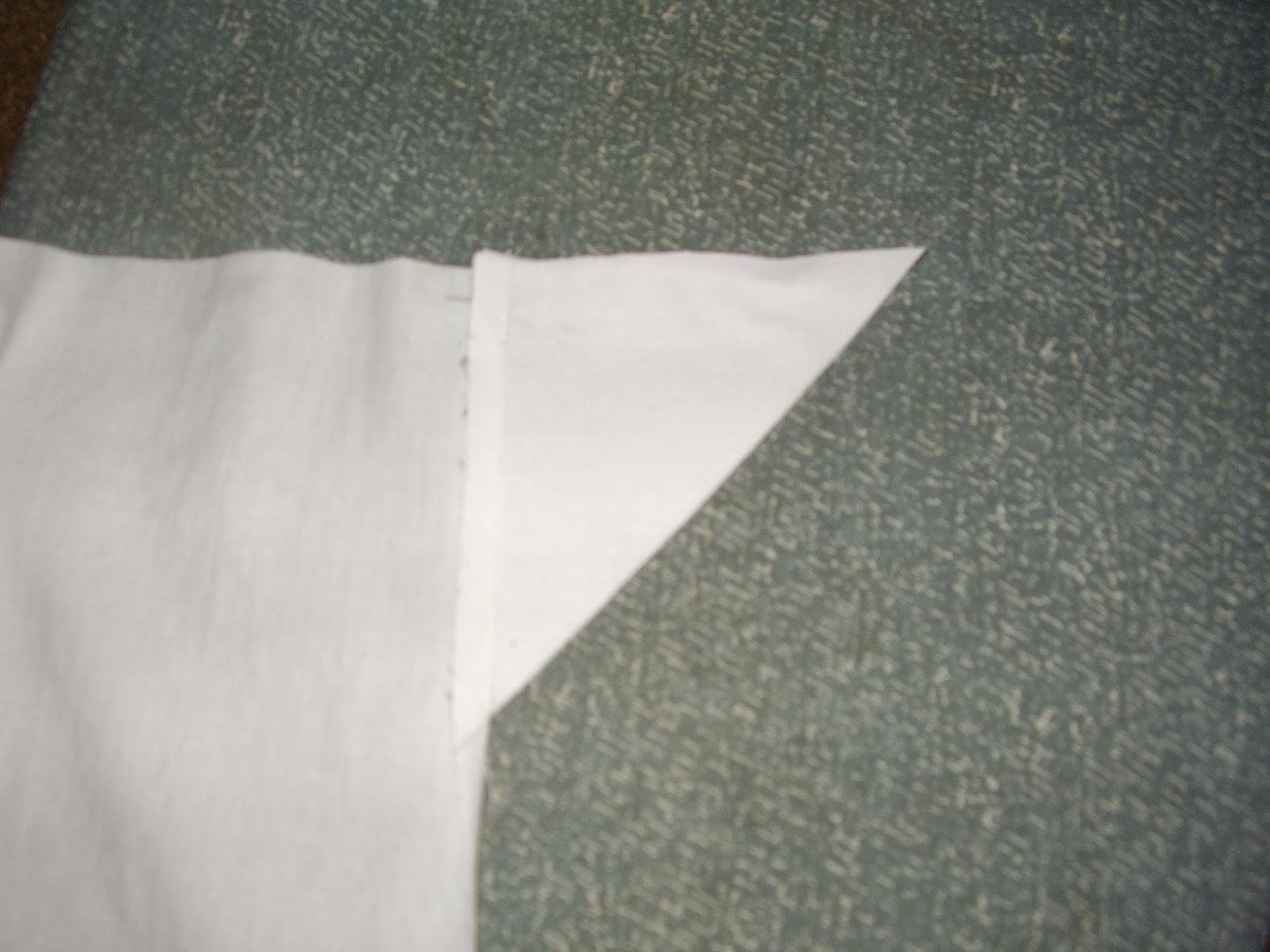 Triangular underarm gusset for Empire chemise.
