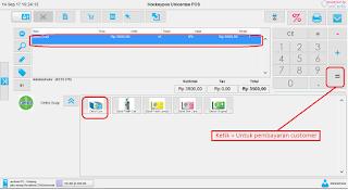 Software program aplikasi kasir gratis unipos - pembayaran penjualan menu