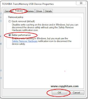 Cara mempercepat  proses copy files dari dan pada flashdisk  tanpa software