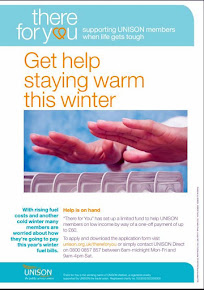"UNISON ""there for you"" Winter fuel Grant 2018 DEADLINE 15 FEB!"
