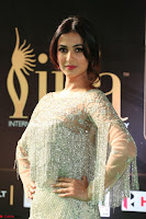 Sonal Chauhan in a stonework Floor Length Silver Designer Gown at IIFA Utsavam Awards March 2017 020.JPG