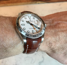 Brian's great lookin Rolex PolarExplorer II on Vintage Cognac Alligator strap with Integrated (TCLS