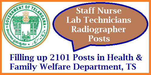 TM&HS - Filling up of the vacant posts of paramedical staff and nurses under the control of Director of Medical Education, Telangana / Director of Public Health & Family Welfare, Telangana and Commissioner, Vaidya Vidhana Parishad, Telangana on contract / outsource basis – Permission - Accorded - Orders – Issued. filling-up-staff-nurse-lab-technicians-radiographers-telangana-health-dept