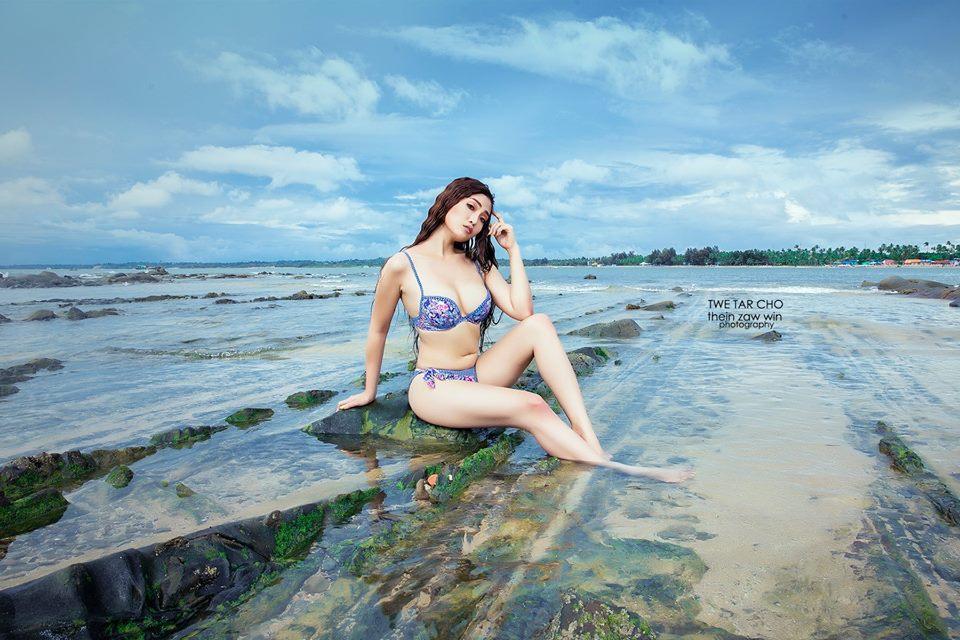 Twe Tar Cho Beach Style Photoshoot
