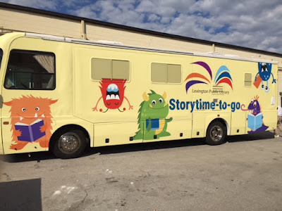 storytime bus, storytime-to-go, mobile storytime room, storytime RV, bookmobile
