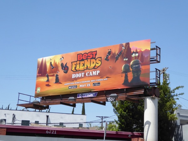 Best Fiends Boot Camp billboard
