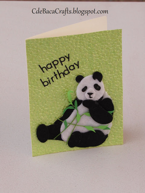 Handmade Happy Birthday Card for all ages by CdeBaca Crafts Blog